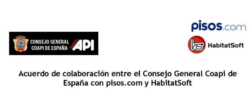Convenio Colaboracion CGCOAPI - Pisos.com HabitatSoft