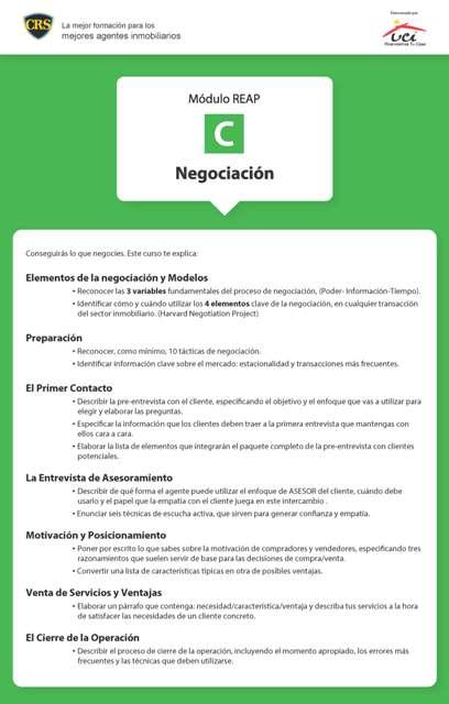 Temario REAP C Técnicas de negociación